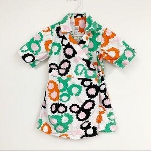 DVF Gap kids wrap multicolored dress Sz 4